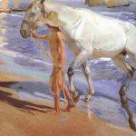 El baño del caballo Sorolla