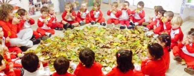 Oliendo las hojas