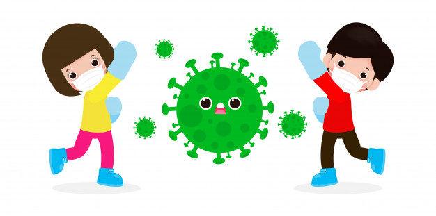 gente-lucha-coronavirus-2019-ncov-personaje-dibujos-animados-ataca-al-hombre-mujer-covid-19-ninos-proteccion-contra-virus-bacterias-concepto-estilo-vida-saludable-aislado-sobre-fondo-blanco_83111-610